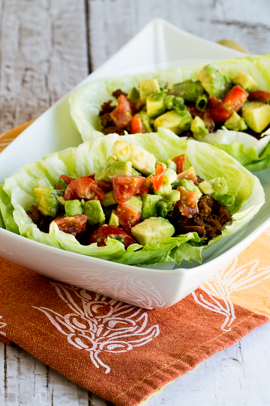 Spicy Tofu Taco Lettuce Wraps (Low-Carb, Vegan, Gluten-Free) found on KalynsKitchen.com