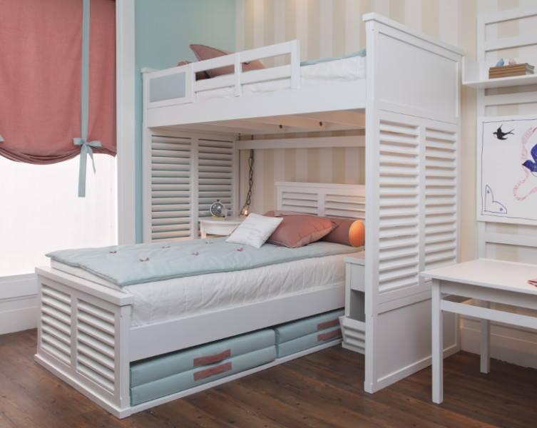 Construindo Minha Casa Clean 16 Quartos com Camas Beliche  ~ Quarto Planejado Treliche