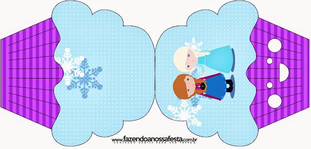 Tarjeta con forma de cupcake de Frozen Niñas en Navidad.