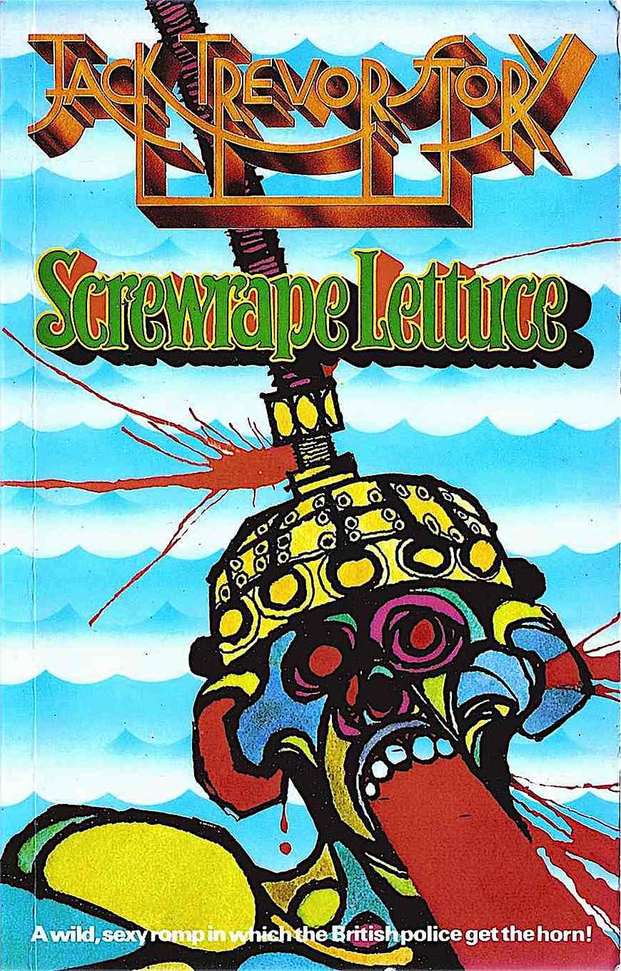 a Harry Douthwaite book cover illustration for Jack Trevor's Screwrape Lettuce