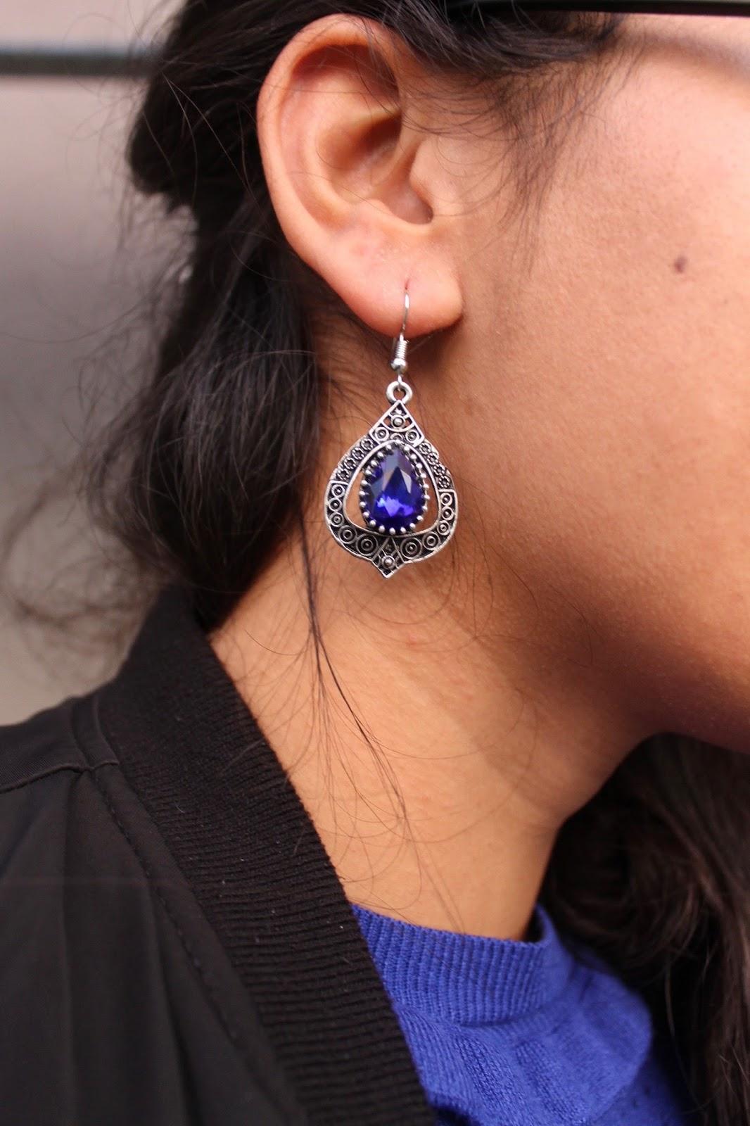Marrakech Blue Gem Earrings