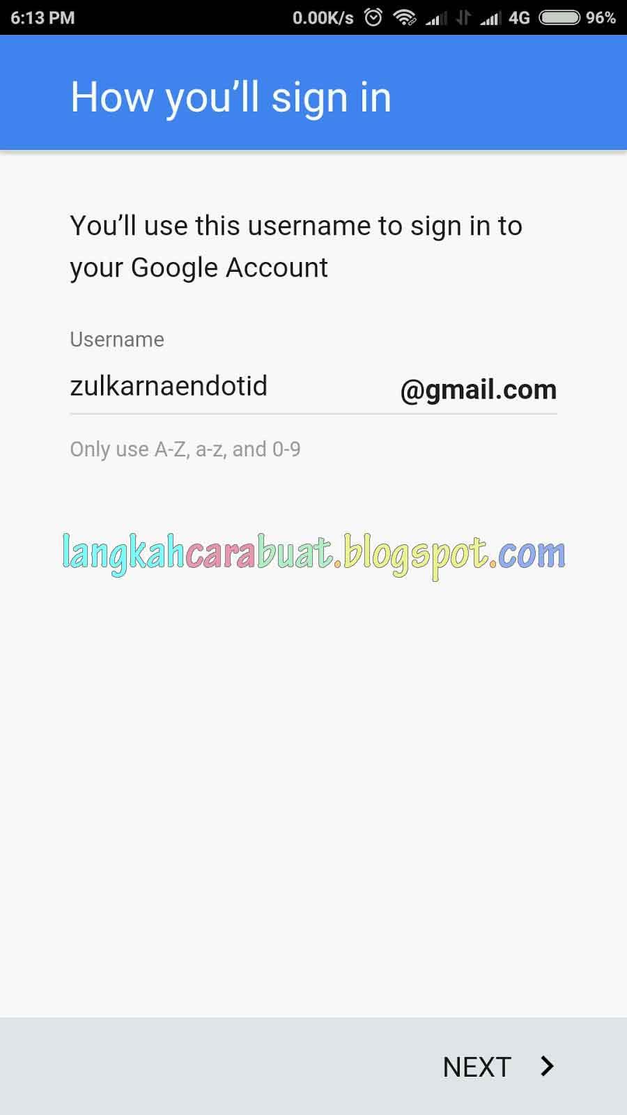 Contoh Cara Menambahkan Akun Google Di Android Untuk