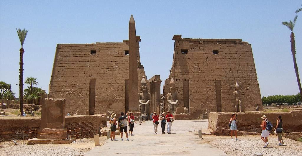 El Templo de Luxor en Egipto