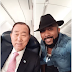"2324Xclusive Update: Nigeria & Africa Super Star ""Banky W"" Takes A Selfie With Ban Ki-Moon (UN Secretary General)"