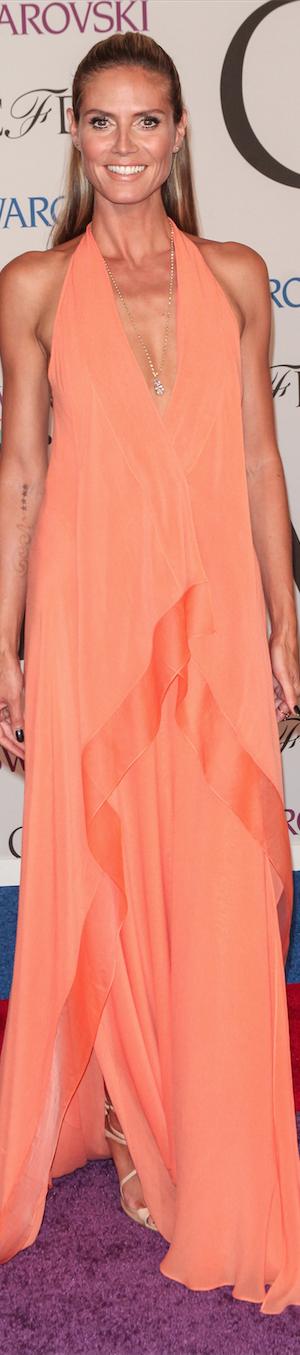 Heidi Klum in Donna Karan CFDA Awards