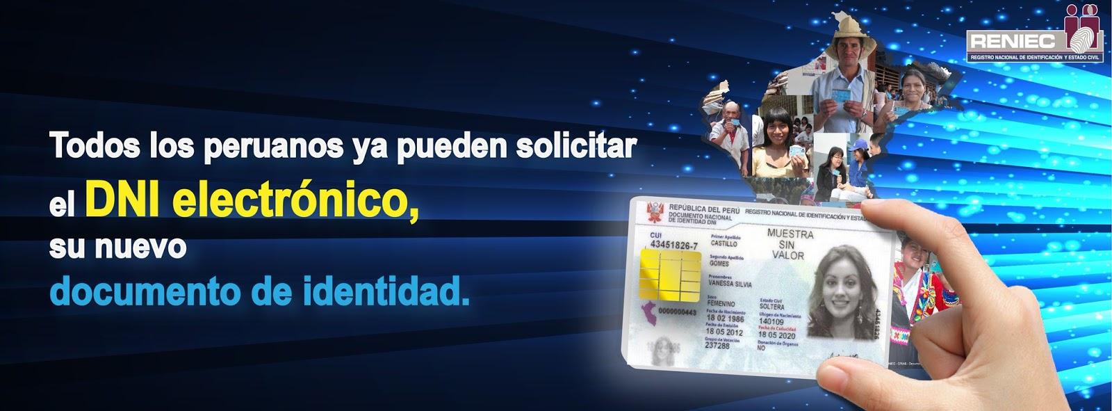DNI Electrónico (DNIe) Ya Puede Ser Solicitado Por Todos Los Peruanos