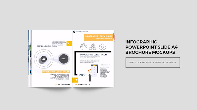 Infographic Multi Page Brochure Powerpoint Mockup Slide5