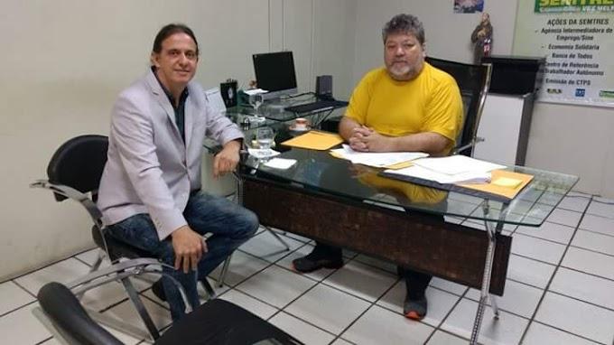 Prefeito Fábio Gentil visita secretaria do Trabalho e reafirma compromisso à ampliação nos atendimentos ao público