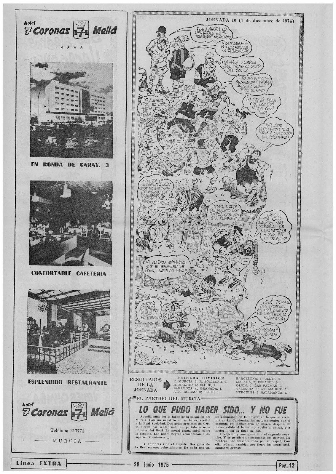 Jornada 10ª de La Conquista de la Cumbre 1974/75 de Baldo ...