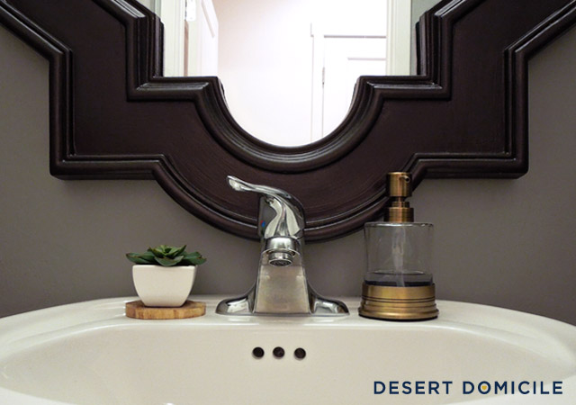 Powder Room Reveal Desert Domicile