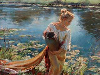 mujeres-en-paisajes-pinturas-impresionistas cuadros-chicas-pinturas