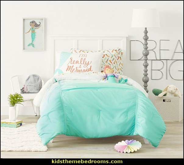 Mermaid Throw Pillow  underwater bedroom ideas - mermaid bedroom decor - under the sea theme bedrooms - mermaid theme bedrooms - underwater bedroom decor - clamshell bed - sea life bedrooms - Little mermaid princess Ariel - mermaid bedding - Disney's little mermaid - mermaid murals - mermaid wall decal stickers - Sponge Bob theme bedrooms - ocean murals - ocean bedding