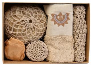Nahıl doğal malzemelerden banyo seti
