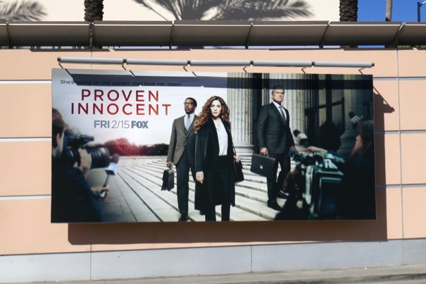 Proven Innocent series premiere billboard
