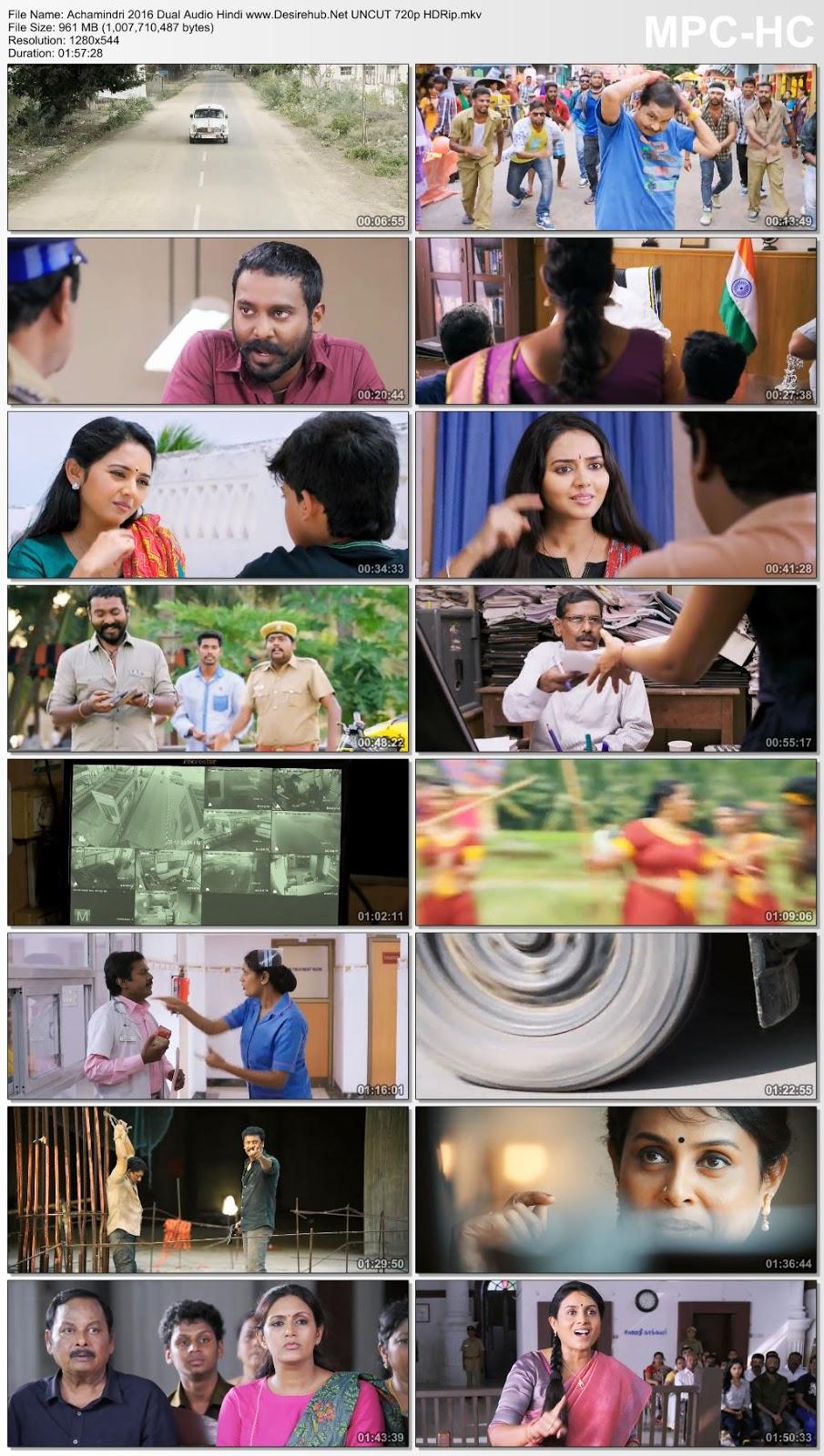 Achamindri 2016 Dual Audio Hindi UNCUT 720p HDRip 950MB Desirehub