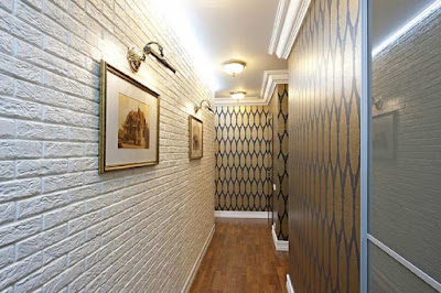 white brick wall in the interior, white brick wallpaper