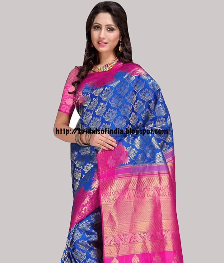 94a9bebf07 Fashion world: The Blue, Pink, And Gold Samudrika Pattu Saree ...