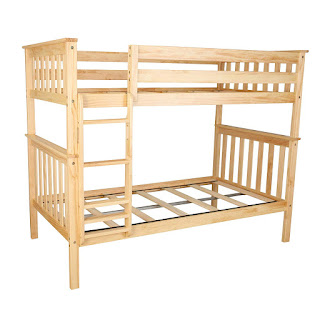 Max & Lily Solid Wood Twin Bunk Bed