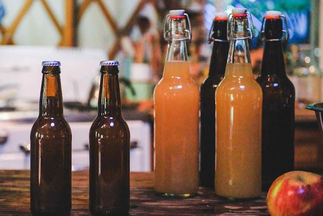 bottle conditioned apple cider