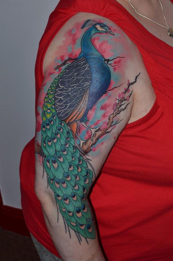 Monki Do Tattoo Studio: Peacock Tattoo By Steve Jarvis