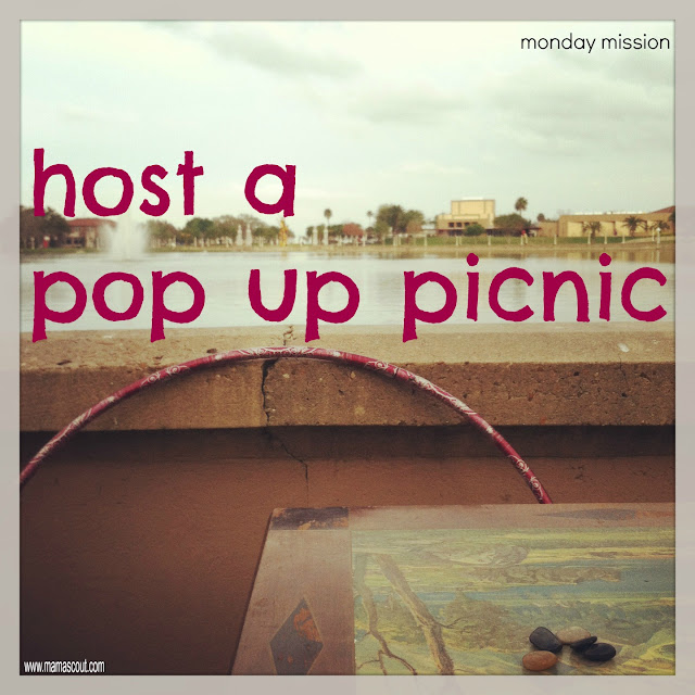 Mamascout: Monday Mission :: Host A Pop Up Picnic