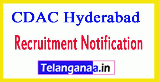 Centre Development of Advanced Computing CDAC Hyderabad Recruitment Notification