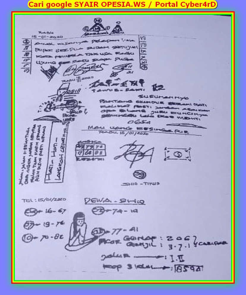Kode syair Singapore Rabu 15 Januari 2020 14