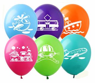 воздушный шарик с транспортом