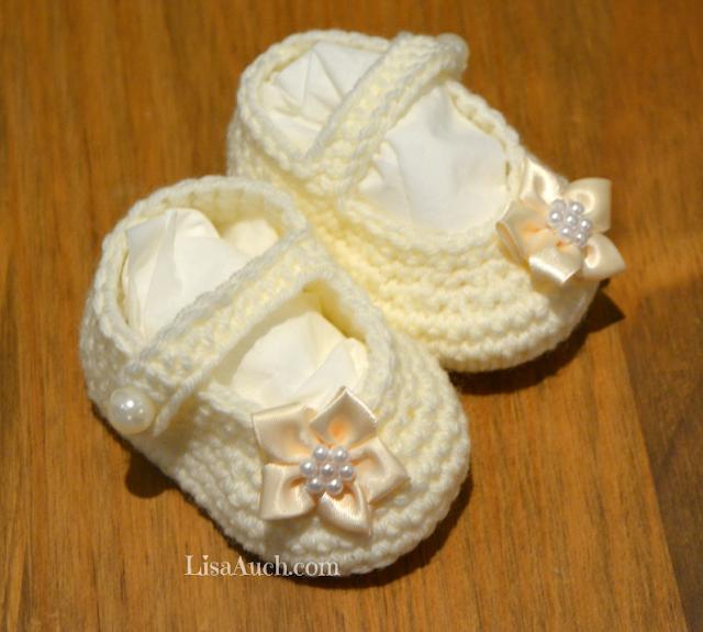 baby boooties crochet pattern free