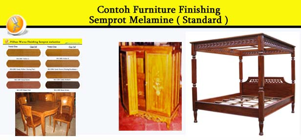 Contoh Furniture finishing Semprot Melamine ( Standard ) 1