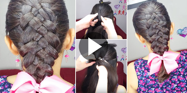 Learn - How To Create Easy 5 Strand Braid Hairstyle - See Tutorial