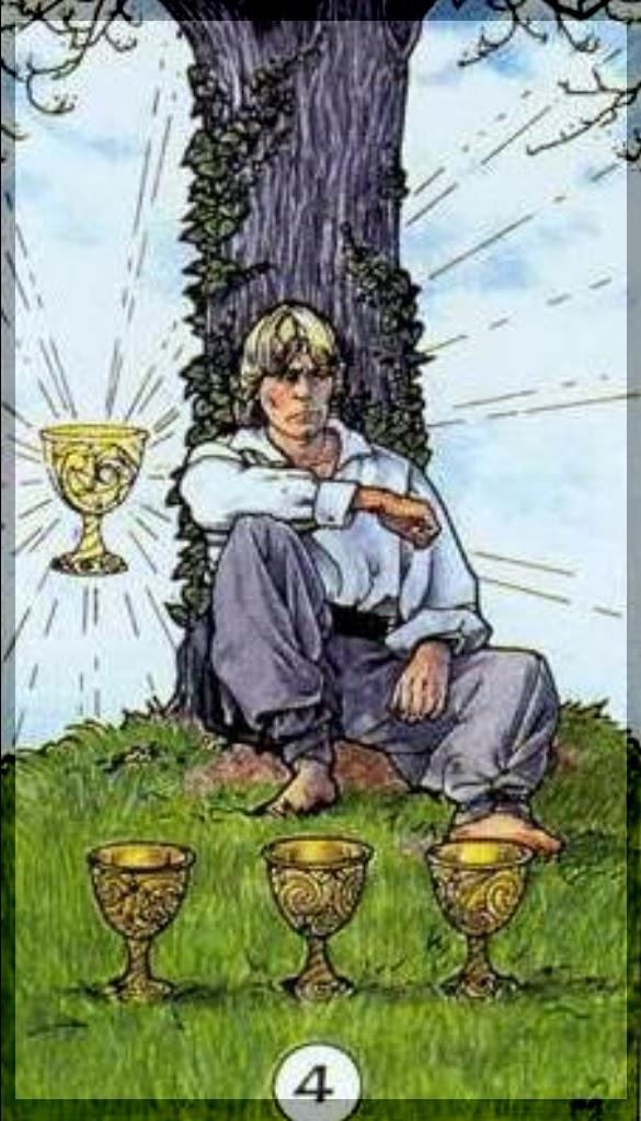 Resultado de imagem para four of cups tarot