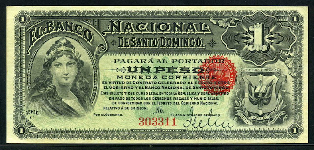 Dominican peso banknote currency