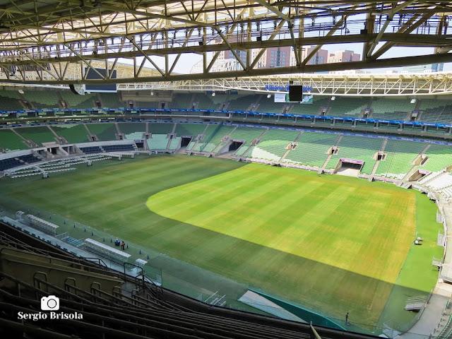 Vista da parte interna do Allianz Parque desde as arquibancadas - Vila Pompeia - São Paulo