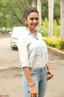 Rakul Preet Singh in Jeans and White Shirt At Jaya Janaki Nayaka le Logo Launch ~  Exclusive 032.JPG