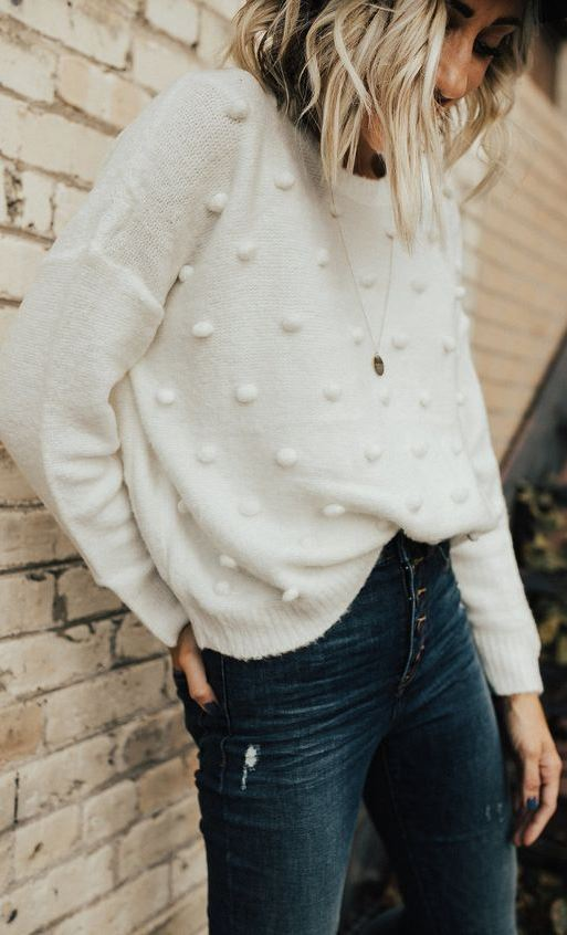 Connie Knit Sweater in Ivory