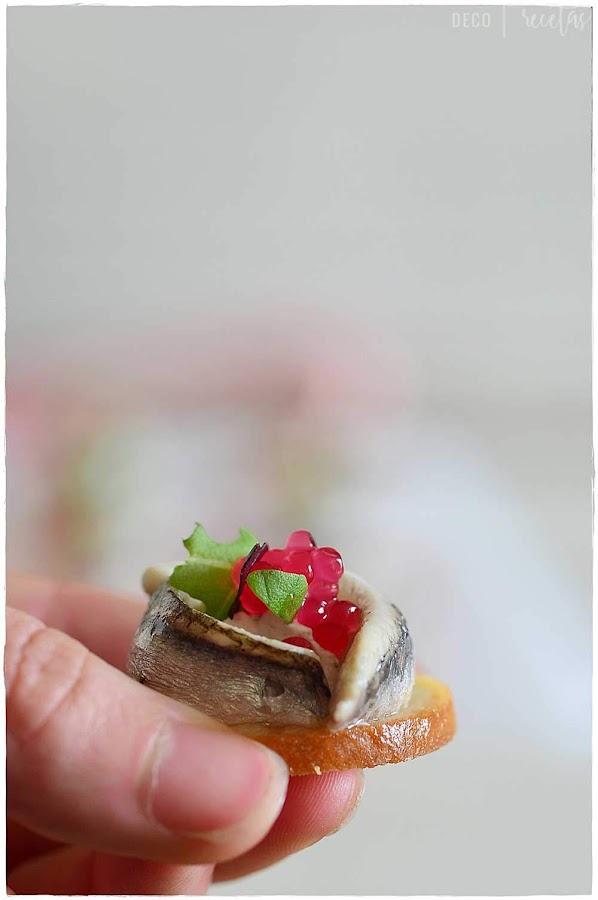 boquerón en vinagre. ¿Sabes diferenciar entre anchoa y Boquerón? >> Bocado de boquerón con mayonesa