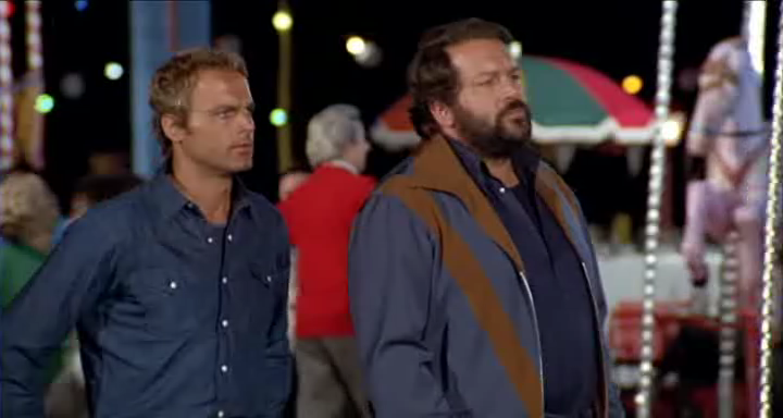 Bud Spencer (right) with Terence Hill in the 1974 comedy Watch Out 894b7a410f