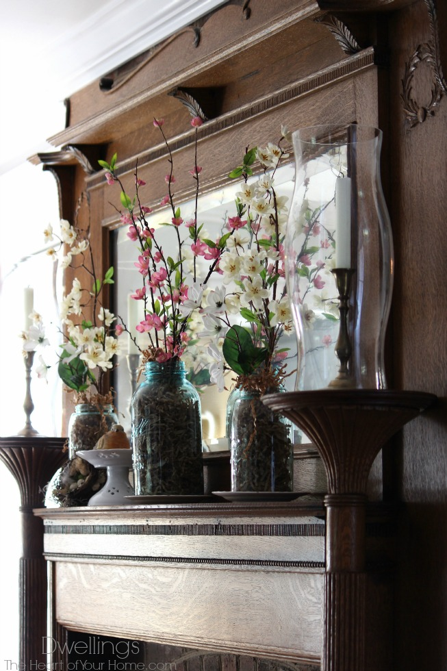 keeping room spring mantel
