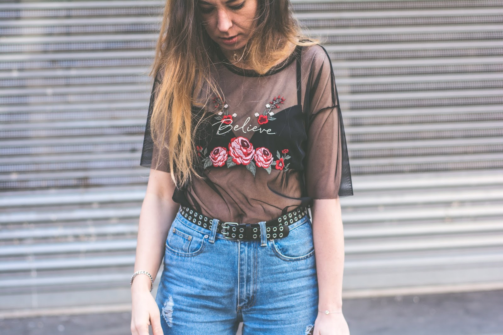 black roses top