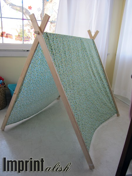 Imprintalish For The Kids Diy A Frame Tent