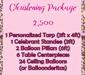 Christening Package 2,500