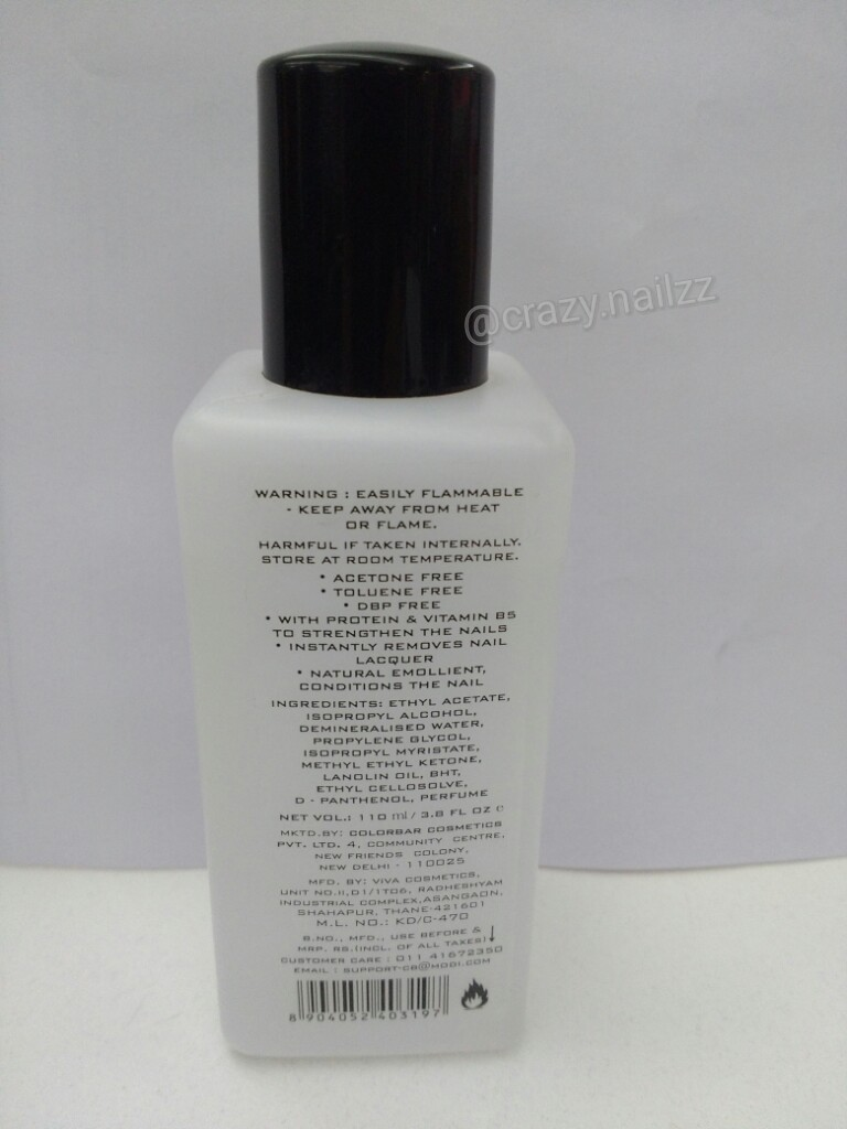 Colorbar Nail Polish Remover With Vitamin E Review