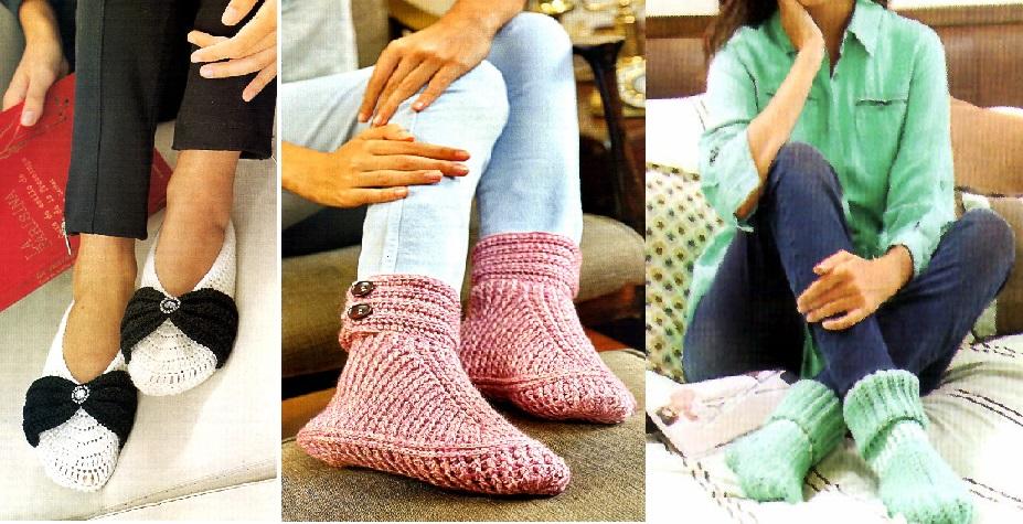 Modelos de zapatitos a crochet para el descanso ~ Dos Agujas y Crochet