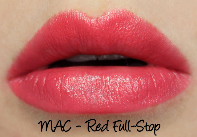 MAC MONDAY | Trend F/W '09 Lipsticks - Red Full-Stop Swatches & Review