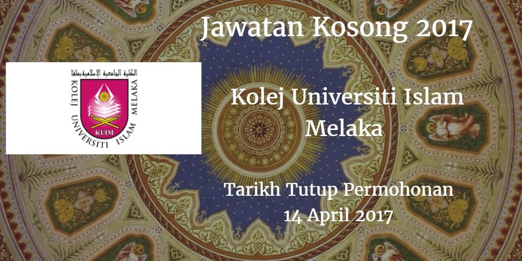 Jawatan Kosong KUIM 14 April 2017