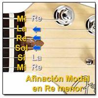 Afinación Abierta en Re menor (D m) para Guitarra