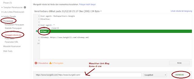 cara mengatur robot.txt dan tag tajuk robot di blogspot Agar Lebih SEO Friendly