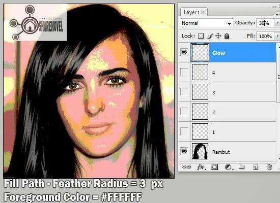 cara membuat vector rambut menggunakan photoshop - tutorial membuat vector di photoshop - membuat foto menjadi kartun dengan photoshop