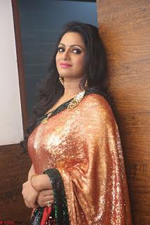 Udaya Bhanu lookssizzling in a Saree Choli at Gautam Nanda music launchi ~ Exclusive Celebrities Galleries 106.JPG